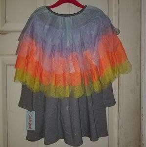 NWT - Cat & Jack Ruffle Cape Dress